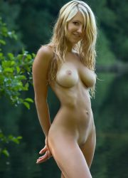 Cute busty naked blond girl