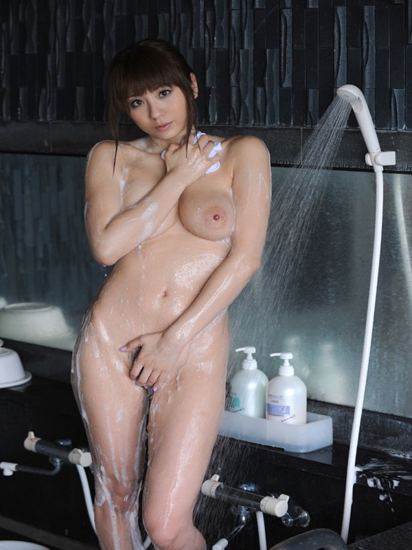 Naked asian women taking shower