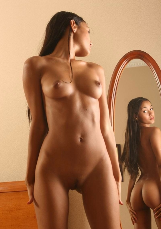 Have Naked girls in the mirror pussy excited