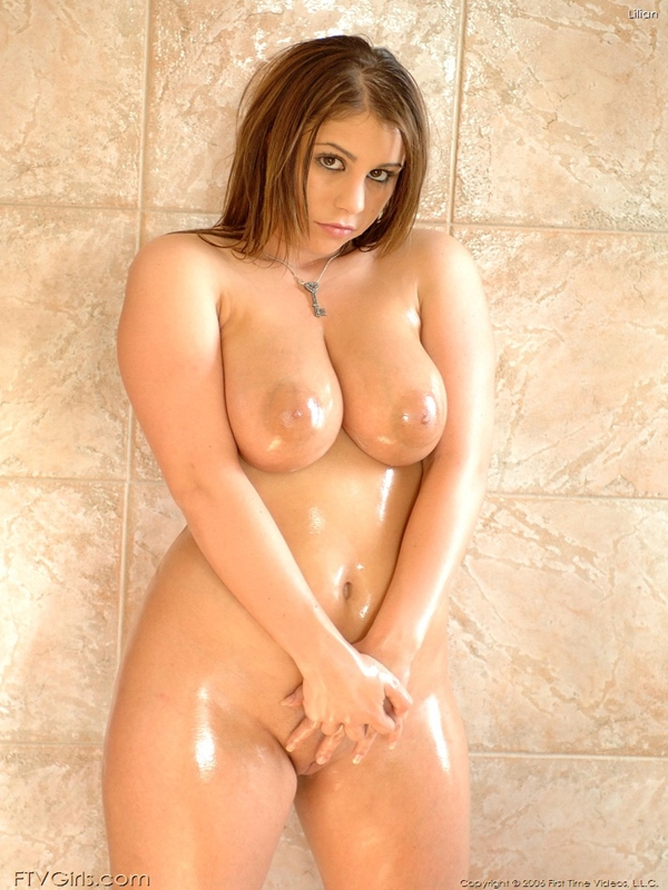 naked sexy oily boobs