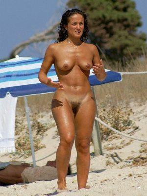 Naked beach girl