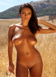Oiled busty naked girl