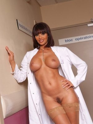 Sexy busty doctor