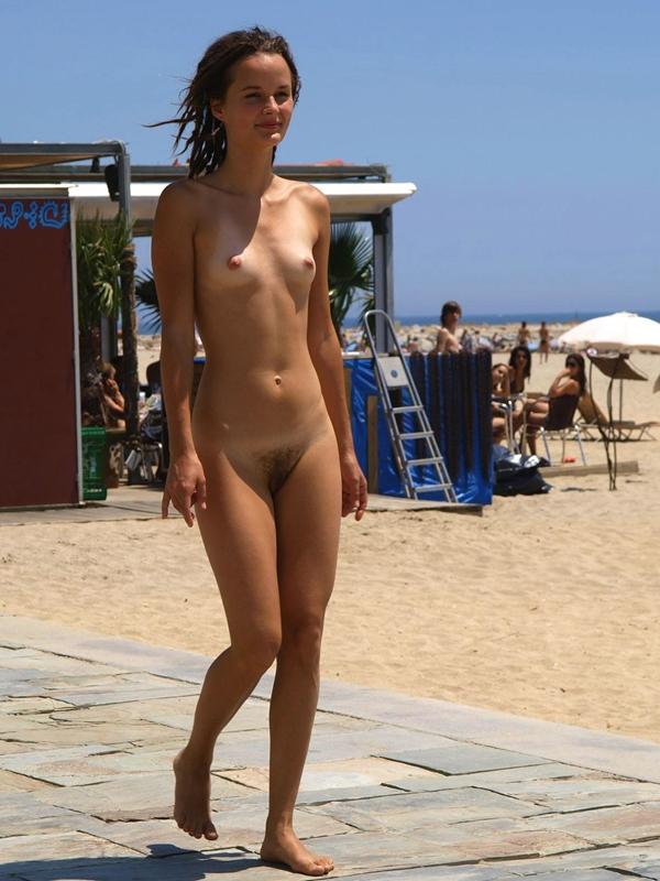 Skinny naked babe