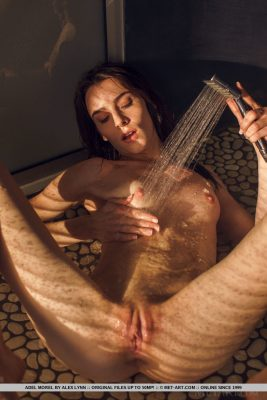 Horny nude girl in the shower